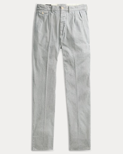 Striped Indigo Cotton Pant