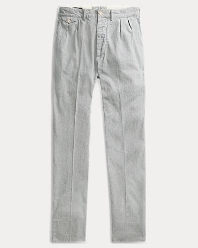 Striped Indigo Cotton Pant