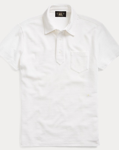 Jacquard-Knit Cotton Polo