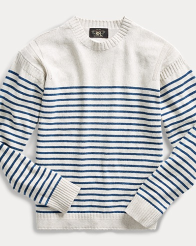 Striped Cotton-Linen Sweater