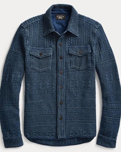 Knit Cotton-Linen Workshirt