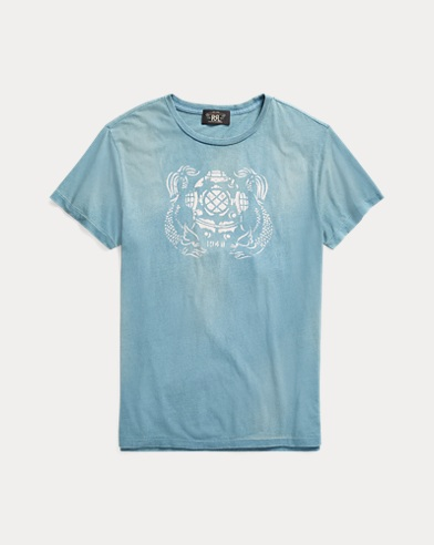 Indigo Cotton Graphic T-Shirt