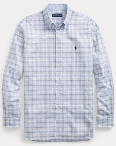 Classic Fit Plaid Cotton Shirt