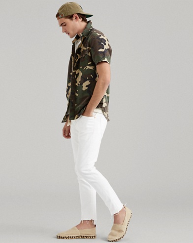 Classic Fit Camo Cotton Shirt