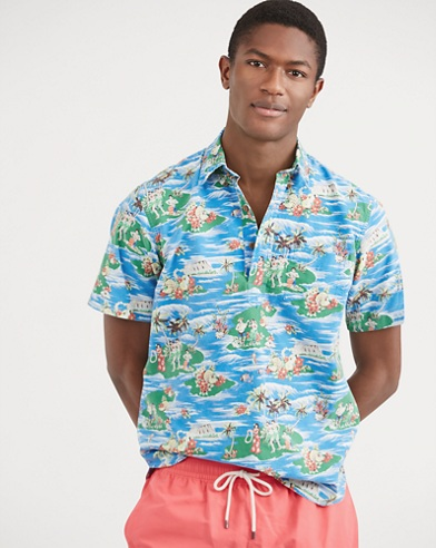 Classic Fit Hawaiian Shirt