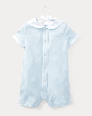 Sailboat Cotton Shortall