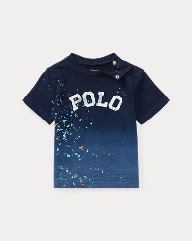 Paint-Splatter Cotton T-Shirt
