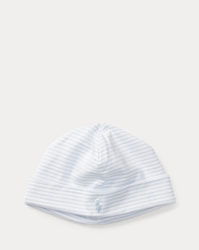 Striped Cotton Jersey Cap