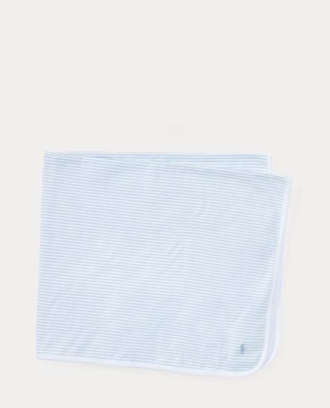 Striped Cotton Jersey Blanket