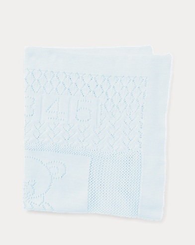Bear Pointelle Cotton Blanket