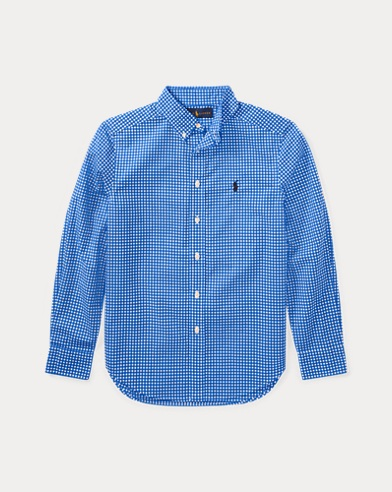 Gingham Stretch Cotton Shirt