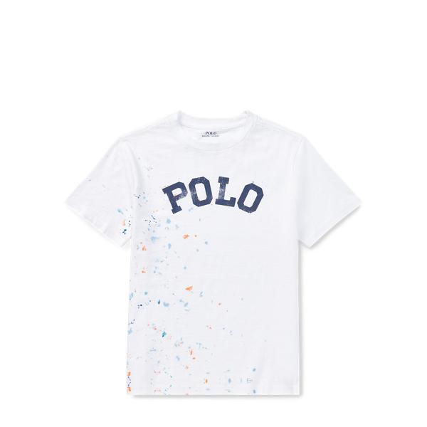 Paint Splatter Cotton T Shirt by Ralph Lauren