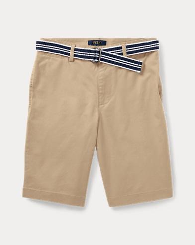 Slim Fit Belted Stretch Short