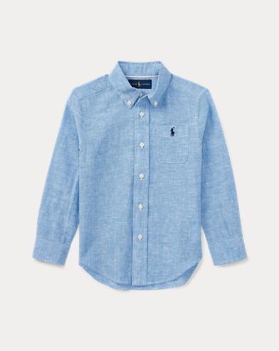 Linen-Cotton Chambray Shirt