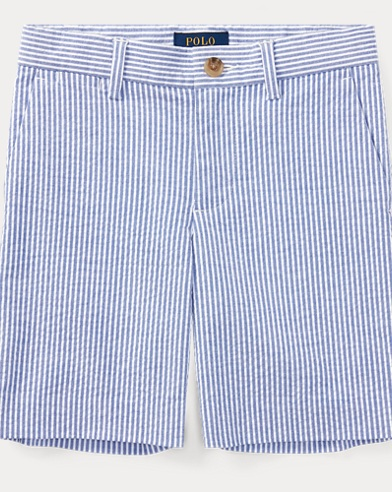 Slim Stretch Seersucker Short