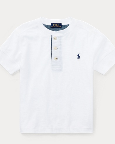 Cotton Jersey Henley Shirt