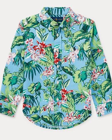 Tropical Cotton Oxford Shirt