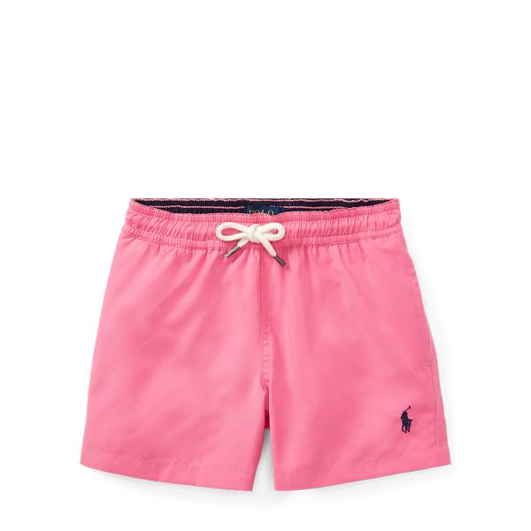 Ralph Lauren Hawaiian Twill Swim Trunk Chroma Pink 4T
