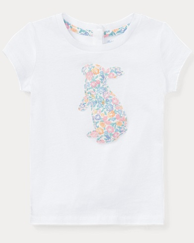 Floral Bunny Cotton T-Shirt