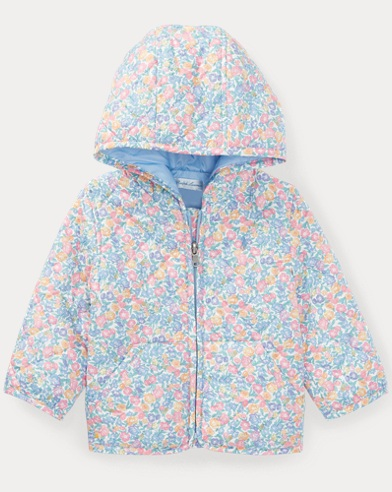 Floral Hooded Quilted Jacket