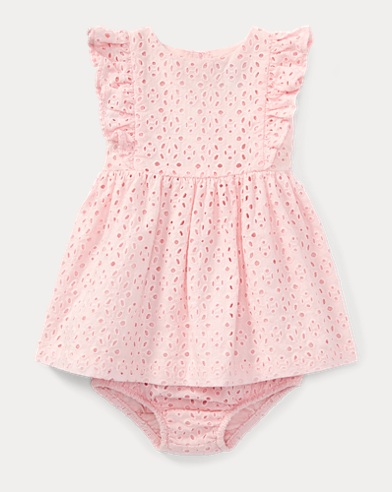 Eyelet Cotton Dress & Bloomer