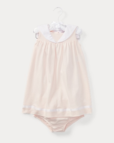 Cotton Sailor Dress & Bloomer