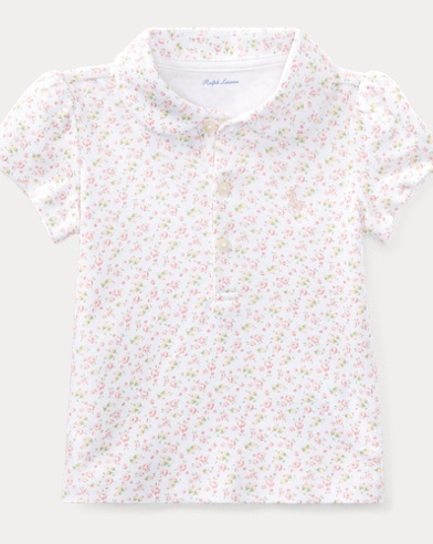 Floral Cotton Interlock Polo