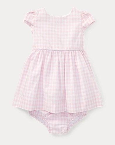 Gingham Cotton Dress & Bloomer