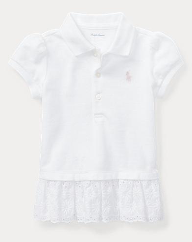 Eyelet-Hem Mesh Polo Shirt