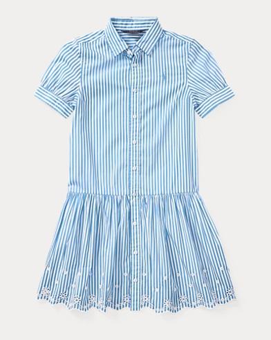 Striped Cotton Shirtdress