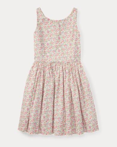 Floral Cotton Sleeveless Dress