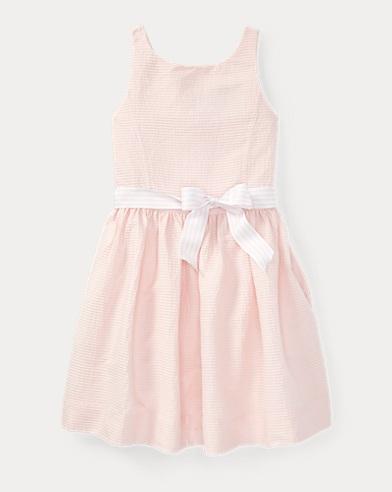 Pintucked Cotton Dress