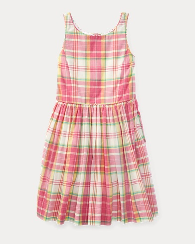Madras Cotton Sleeveless Dress