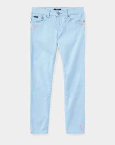 Embroidered Sateen Skinny Jean