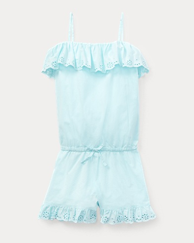 Eyelet Cotton Romper