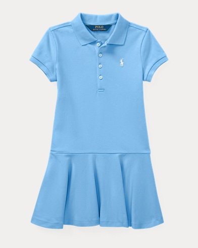 Stretch Mesh Polo Dress