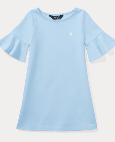 Ponte Bell-Sleeve Dress