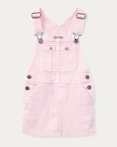 Stretch Denim Overall Dress