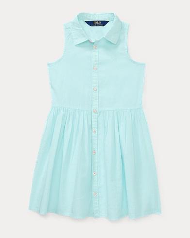 Sleeveless Poplin Shirtdress