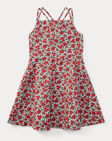Floral Linen-Cotton Dress