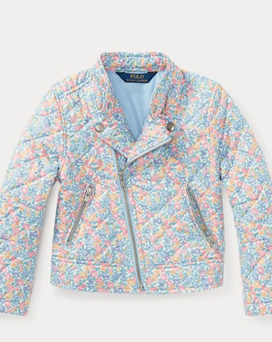 Floral Quilted Moto Jacket