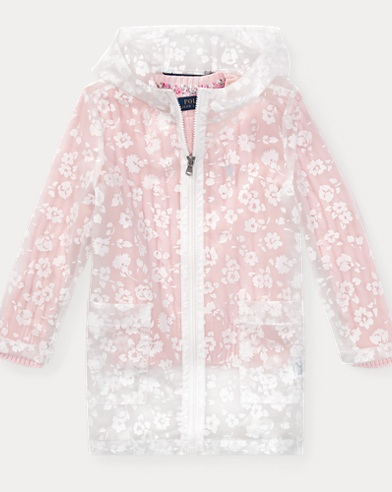 Floral Transparent Raincoat