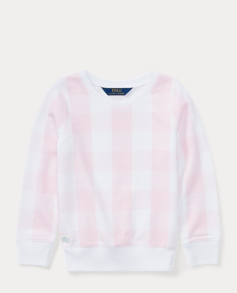 Gingham French Terry Pullover
