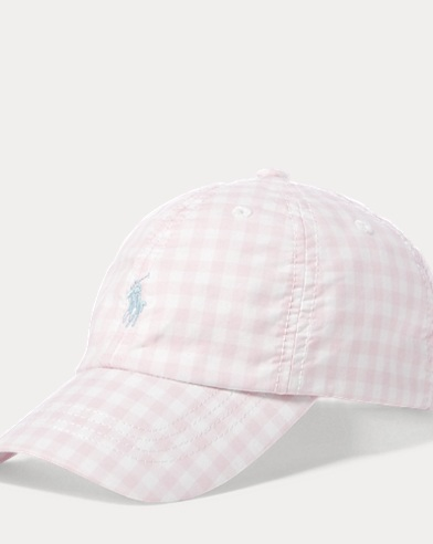 Gingham Poplin Baseball Hat