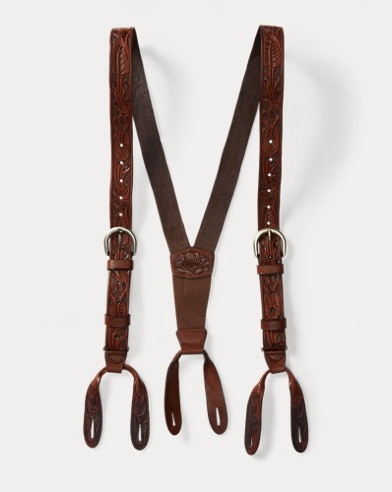 Hand-Tooled Leather Braces