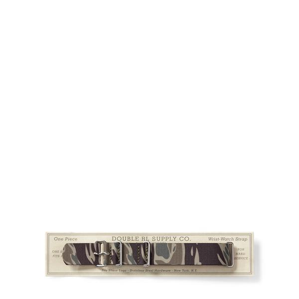 Ralph Lauren Camo Canvas Watch Strap Camo One Size