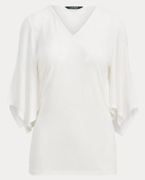 Handkerchief-Sleeve Jersey Top
