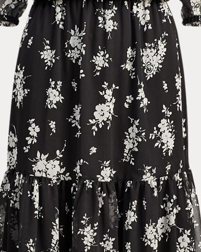 Floral Georgette Midi Dress