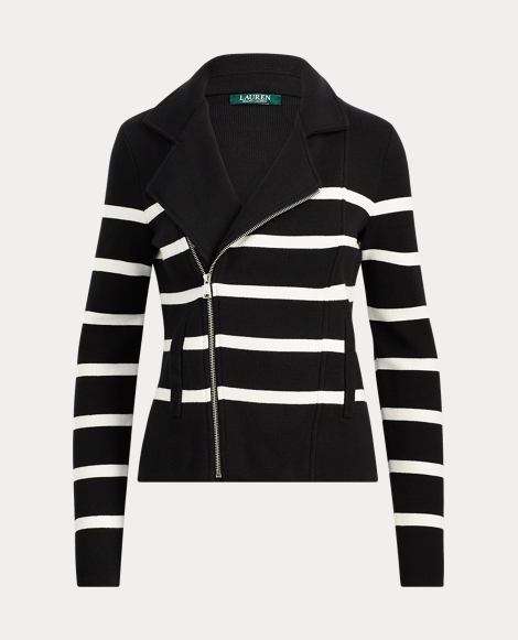 Striped Cotton Full-Zip Jacket