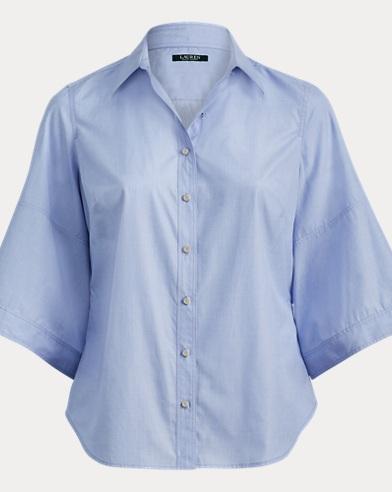 Cotton Dolman-Sleeve Shirt